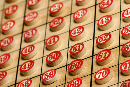 Wooden  numbers in order   Lucky concept  photo