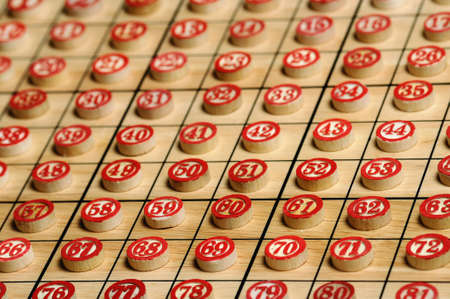 Wooden  numbers in order   Lucky concept Stock Photo - 15502312