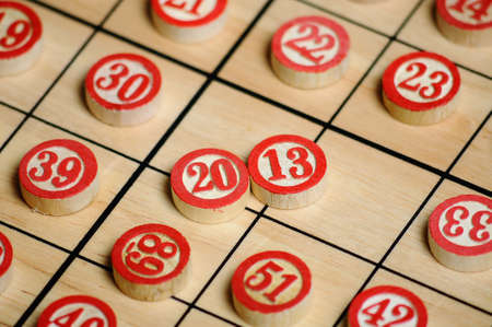 Wooden numbers, random choice 2013 on focus Stock Photo - 15502320