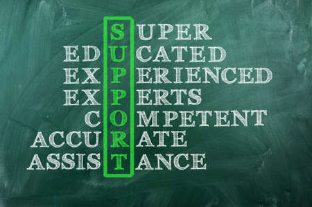 customer support  concept on blackboard- Competent  Accurate Assistance