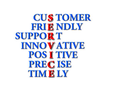 customer service concept - customer friendly support photo