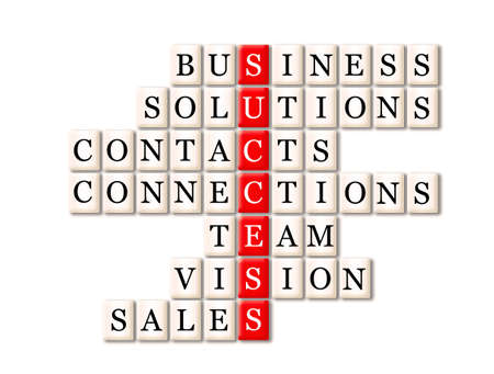 acronym of success- business, solutions, contacts, connections, team,vision,sales
