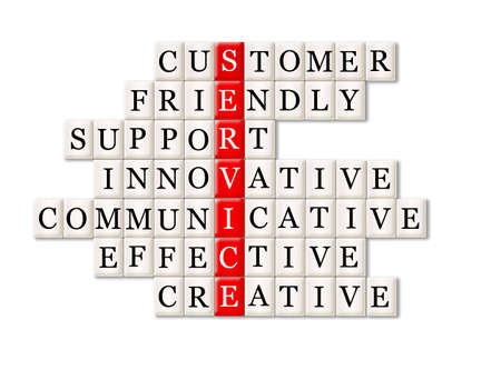 communicative: customer service concept -customer friendly support Stock Photo
