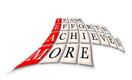 achieves: Acronym of Team - Team, Efforts, Achieves, More Stock Photo