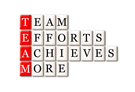 organization development: Acronym of Team - Team, Efforts, Achieves, More