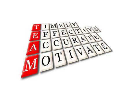 Acronym of Team - timely, effective,accurate, motivate photo