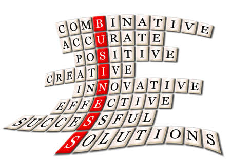 acronym concept of business -combinative,accurate,positive,creative,innovative,effective,cuccessful,solutions