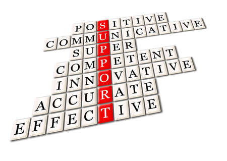 competent: customer support  concept -positive, comunicative,super competent,innovative,innovative, effective