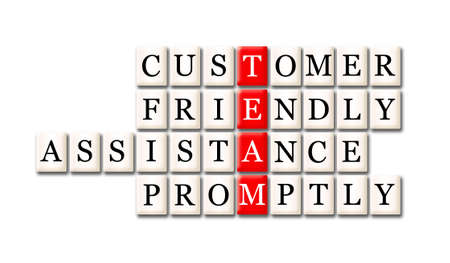 timely: Acronym of Team - customer friendly assistance,timely
