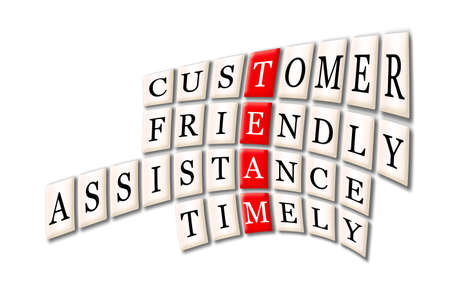 Acronym of Team - customer friendlyservice,timely photo