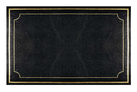 book  cover-black  leather with gold trim  photo