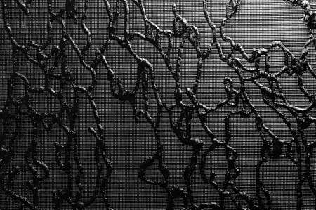 frosted window: black white texture of decorative glass  easily can be colorised Stock Photo