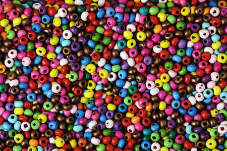 texture of small varicolored  beads ,suitable for backgrounds photo