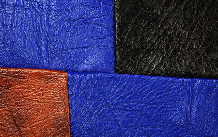 Multi-Colored leather patch material,suitable for  background  photo
