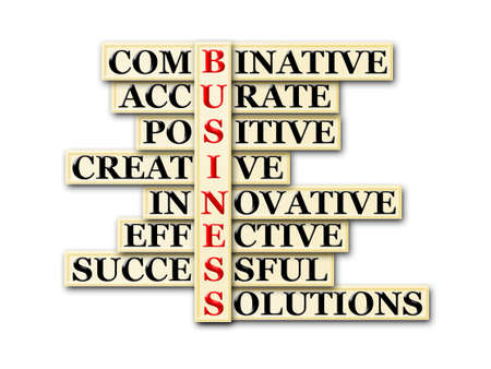 acronym concept of business and other releated words photo