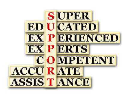 acronym concept of Support  and other releated words Stock Photo