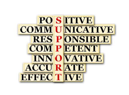 acronym concept of Support  and other releated words photo