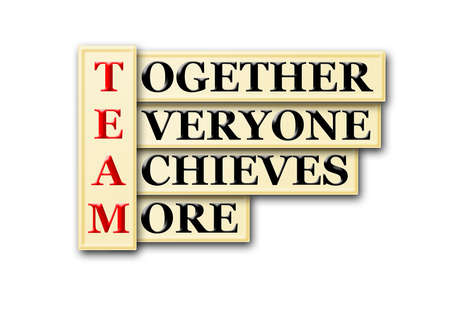 acronym concept of Team  and other releated words Stock Photo