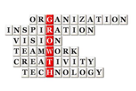 acroniem concept van de groei en andere releated woorden