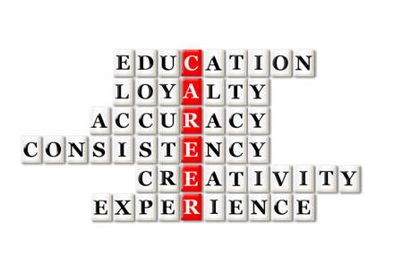 acronym: acronym concept of career and other releated words Stock Photo