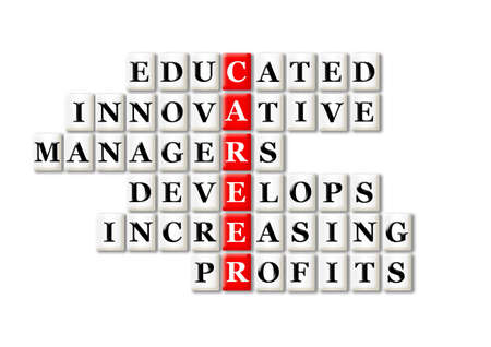 acronym concept of career and other releated words Stock Photo