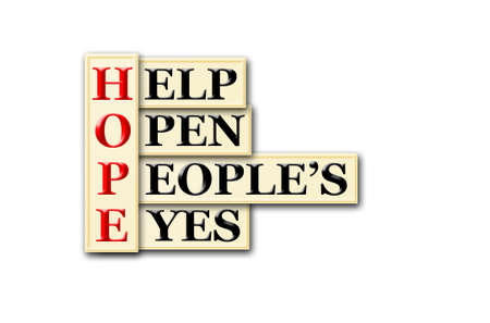 Acronym concept of Hope and other releated words photo