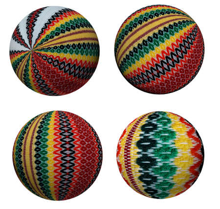 Collection of attractive decorative colored balls made of fabric. Suitable for Christmas and more. Stock Photo - 23243652