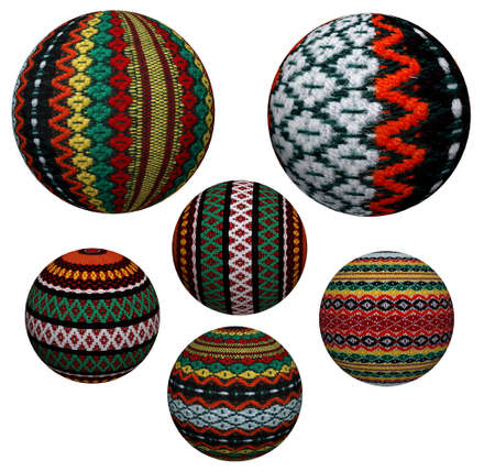 Collection of attractive decorative colored balls made of fabric. Suitable for Christmas and more. Stock Photo - 23243650