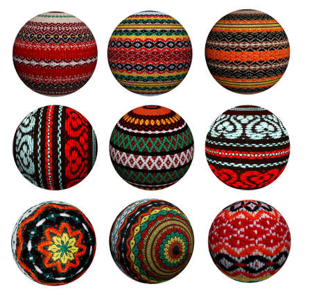Collection of attractive decorative colored balls made of fabric. Suitable for Christmas and more. Stock Photo - 23243648