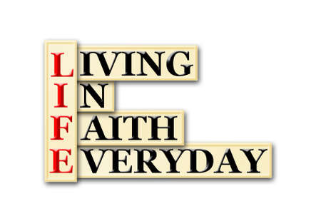Acronym concept of Life  and other releated words Stock Photo