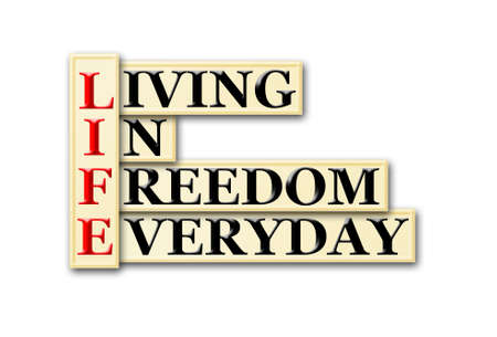 living wisdom: Acronym concept of Life  and other releated words Stock Photo