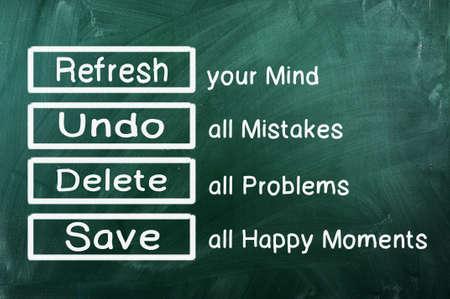 Motivation or  Sentence  handwriting on green chalkboard Standard-Bild