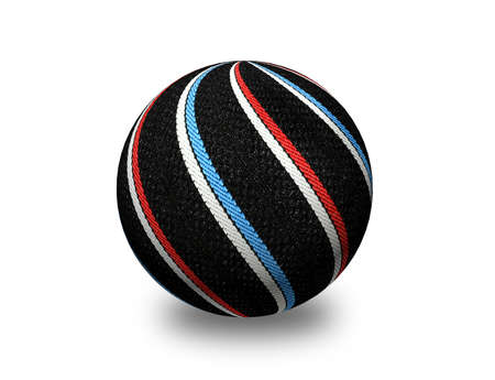 attractive decorative colored ball made of fabric. Suitable for Christmas and more. photo