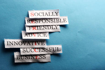 Success  acronym  in business concept, words on cut paper hard light Stock Photo