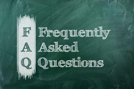 häufig gestellte Fragen (FAQ) Konzept für die Website-Service auf Tafel