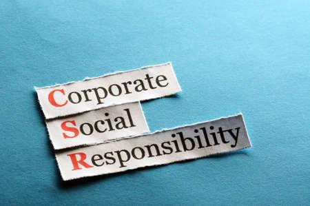 csr: La responsabilidad social empresarial concepto (RSE) en el papel