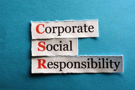 La responsabilité sociale des entreprises (RSE) notion sur papier Banque d'images - 26506041