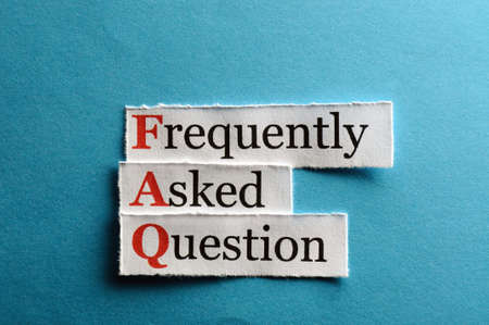 frequently asked question: frequently asked question (FAQ) concept for website service on paper