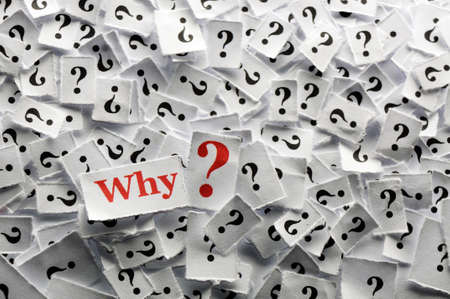 Why  question marks on white papers -hard light