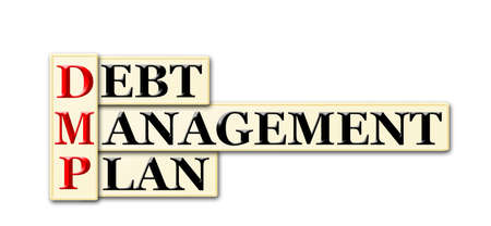 debt management: DMP - Debt Management Plan acronym on white background