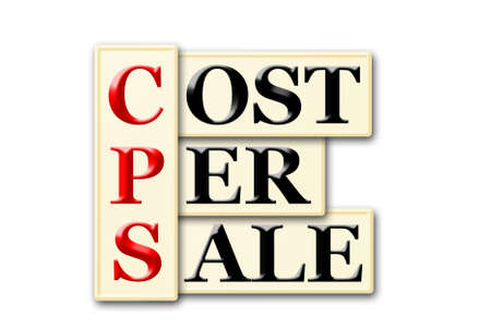 acronym: CPS -cost per sale  acronym on  white background