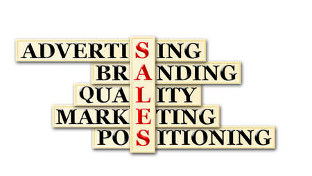 acronym: acronym concept of sales and other releated words  Stock Photo