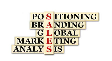 acronym concept of sales and other releated words  photo
