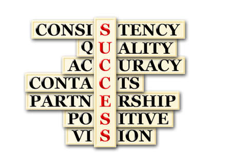 acronym: acronym of success and other releated words on white