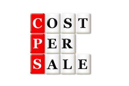 CPS -cost per sale acronym on white background