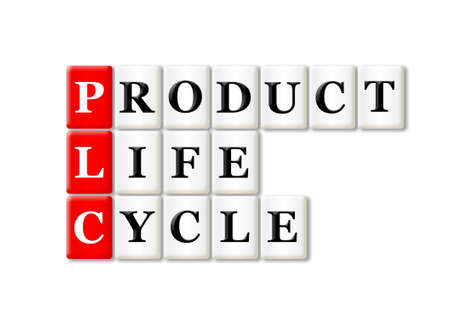 PLC - Product Life Cycle acronym on white background  photo