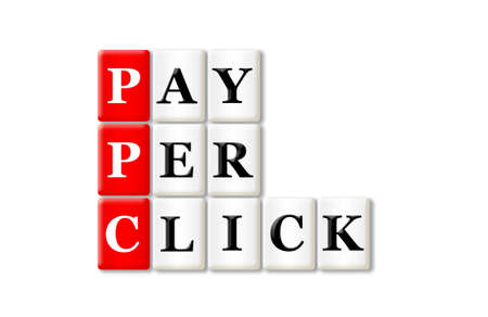 PPC - Pay Per Click acronym on white background  photo