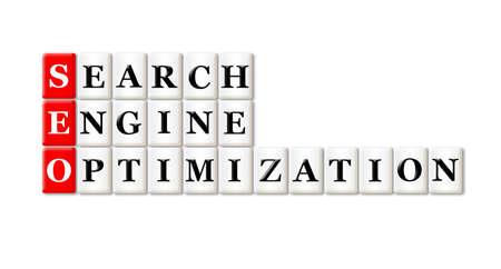 searh: Conceptual SEO Searh Engine Optimization acronym on white