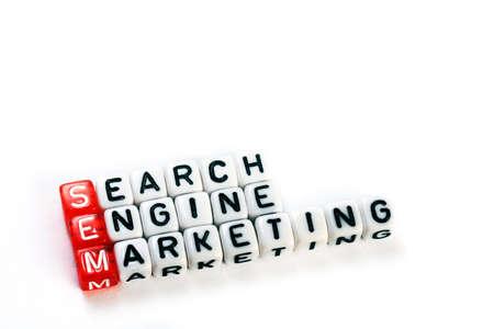 searh: SEM  Searh Engine Marketing definition  acronym on white