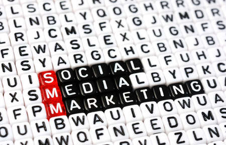 smm: cubes with text  SMM , Social Media Marketing Stock Photo
